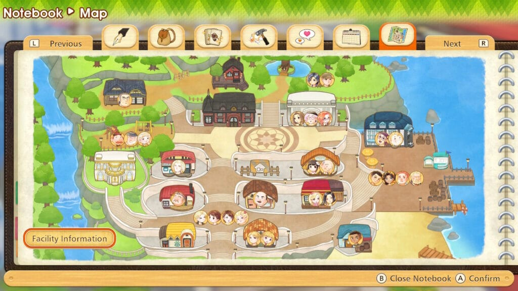 Story of Seasons Preview Map