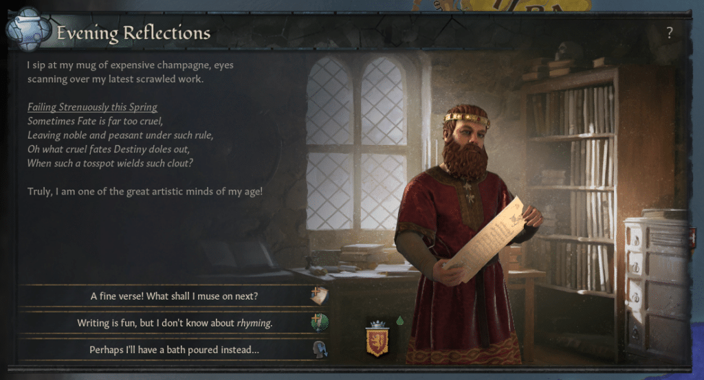 Crusader Kings 3 Evening Reflections Poems