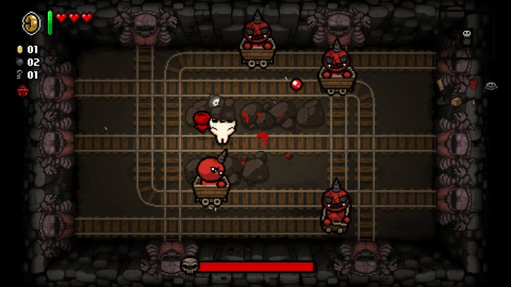 The Binding of Isaac: Repentance mine cart level